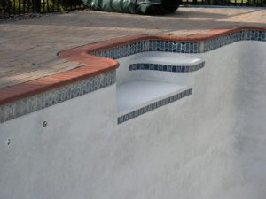 Pool Renovation with Red Brick Safety Grip Coping