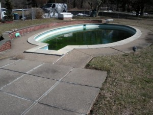 pool coping before