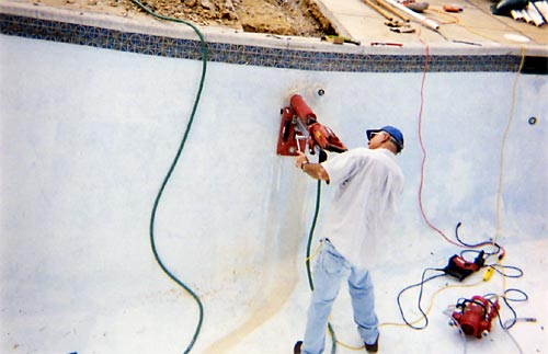 Install pool pipes