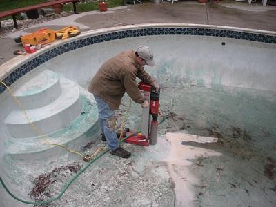 drilling in hydrostatic plugs