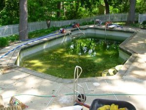 A Pool with New Tile, Coping, Caulking and Plaster.