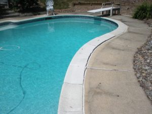 New Tile and Coping with Bullnose patio stone coping