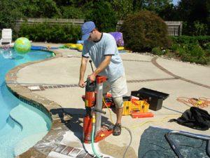 Pool Handrail Installation